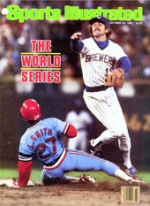 Robin Yount on the cover during the 1982 World Series