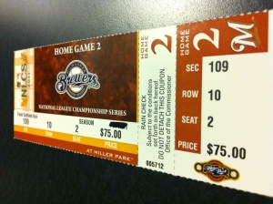NLCS Game 2 Ticket