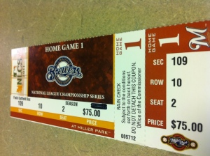 NLCS Game 1 Ticket