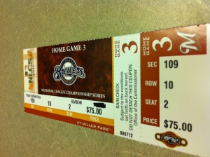 NLCS Game 6 Ticket