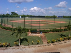 A game field at the Brewers new Dominican Academy.