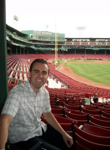 John at Fenway Park