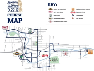 2012 Mini Marathon Course Map