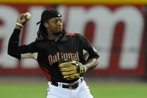 Rickie Weeks was the National League starting second baseman at the 2011 MLB All-Star Game in Phoenix, Arizona.