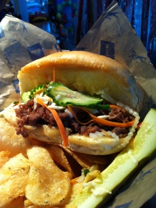 The finished Chinatown Banh Mi Sandwich