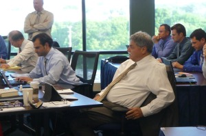 "Laptops, ""SmartBoards,"" iPads and  cell phones.  The Brewers War Room featured a lot of cutting edge technology with help from the Brewers MIS Department."