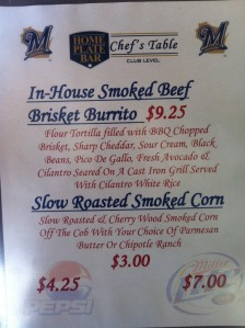 The menu for the Astros series.