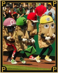 Like our Racing Sausages, the Pirates Pierogies are an important part of in-game entertainment for all Pirates games at PNC Park. [Photo courtesy: Pittsburgh Pirates]
