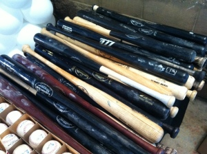 Game used bats, broken bats and autographed bats beginning at $30