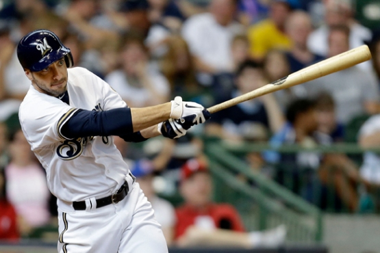 Ryan Braun is a finalist for the Hank Aaron Award. (Getty Images)