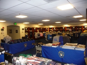 This Visiting Clubhouse at Miller Park is stocked up and ready to go for Brewers fans on Friday morning!