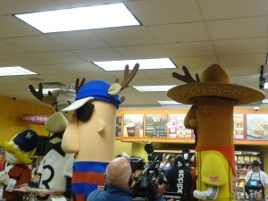 Reindeer antlers on the Sausages.
