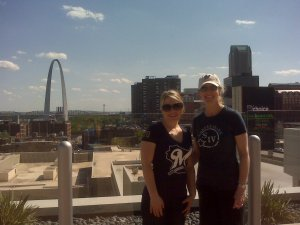 Cait with her boss, Kathy, in St. Louis