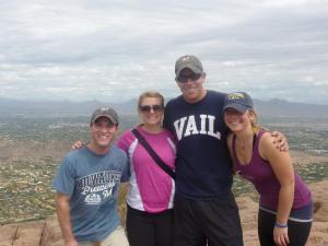 L-R: Diny, Molly, Jeff and Cait on top of Camelback Mountain in Arizona during the 2011 NLDS
