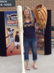 Cait at the Louisville Slugger display at US Cellular Field in Chicago