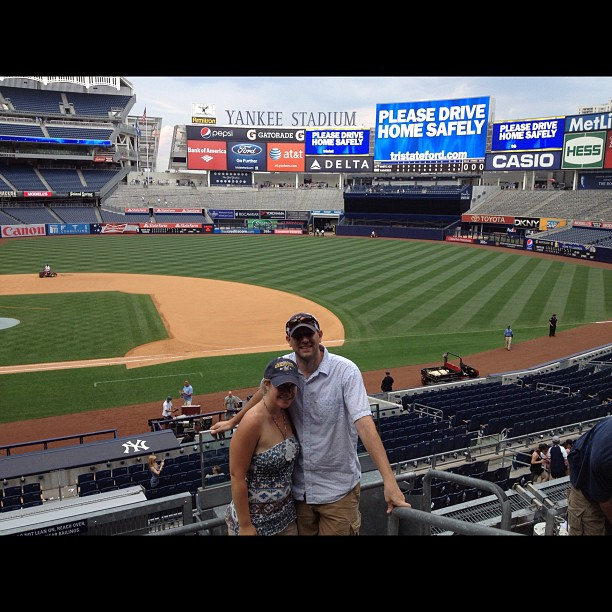 Cait and Brian at Yankee Stadium