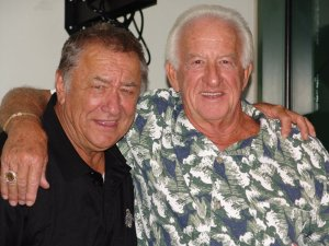 Johnny Logan and Bob Uecker