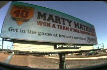 Thanks to our friends at Clear Channel, we've got a billboard running to recognize Marty!