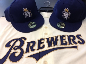 The authentic jersey with the hats.
