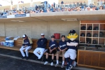 In the dugout at Maryvale