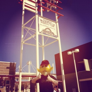 Ladies and gentlemen, Bernie has arrived at Maryvale. Let the Spring Training Games begin!