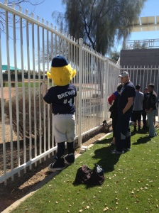 And he also waits for autographs, too!