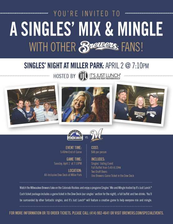Brewers Singles Night April 2013