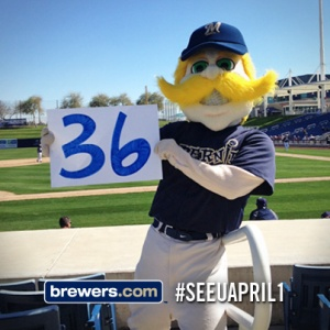 Bernie made his way to Spring Training and added to the countdown!