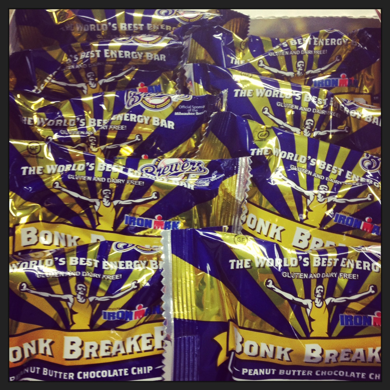 Here's the Brewers-branded Bonk Breaker (say that 3x fast!). The Peanut Butter Chocolate Chip flavor will be sold at select concession stands and the Brewers Team Stores at Miller Park.