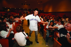 Norichika Aoki at last year's S.C.O.R.E. event.