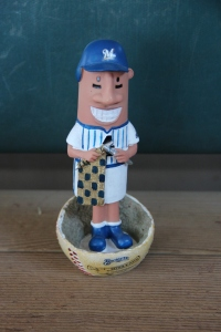 Brewers Stitch N' Pitch Hot Dog Bobblehead
