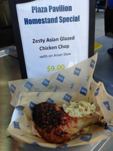 Zesty Asian Glazed Chicken Chop with Asian Slaw