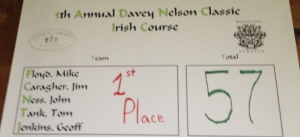 Davey Nelson Golf Winners