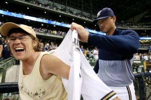 At the 2009 event, this lucky fan won Trevor Hoffman's jersey.