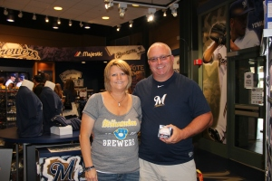 Michelle and Mark Jahns, Grand Prize winners in the #BrewersShowIt contest.