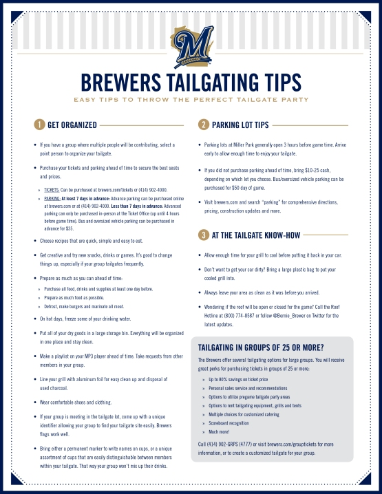 Brewers Ultimate Tailgate Tips