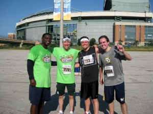 L-R: Telly Hughes, Joe Block, Mike Vassallo and John