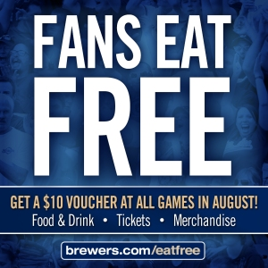 Brewers Fans Eat Free 2013