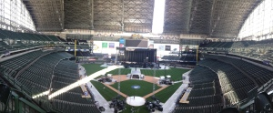 As of Monday afternoon, here is what Miller Park looks like as it prepares for Sir Paul.