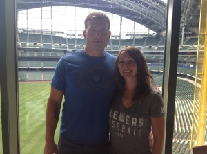 Nathan and Mindy Skewes, Brewers Fan-tastic 40 winners.