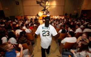 Rickie Weeks at the team S.C.O.R.E. event in 2012