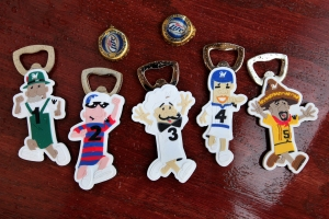 Racing Sausage Bottle Openers