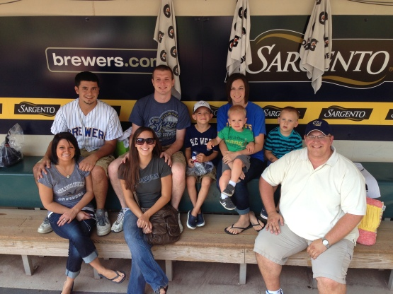 Chad and his guests along with the Kooiman Family were treated to a game at Miller Park today.