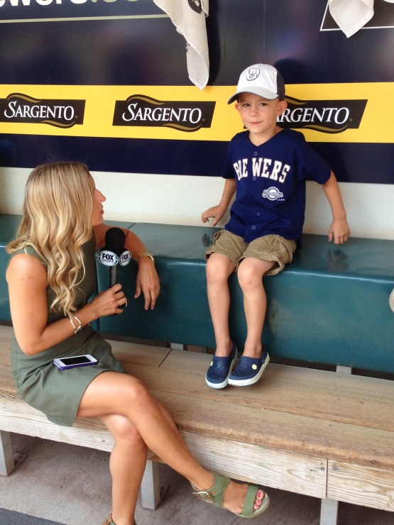 Sophia Minnaert of FS Wisconsin interviews Isaiah, he starts kindergarten in two days.