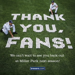 Thank You Brewers Fans 2013