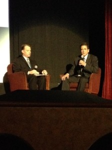 Jonathan and Paul discuss Paul's career and the film industry during Saturday's event.
