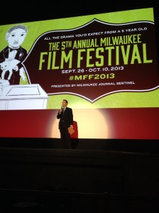 Artistic and Executive Director of the Milwaukee Film Festival, Jonathan Jackson, introduces the evening's event.
