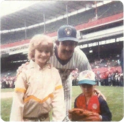 Erika and Craig with Rollie Fingers.