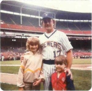 Erika and Craig with Jim Gantner.