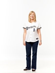 Erika shows off her Brewers jersey.
